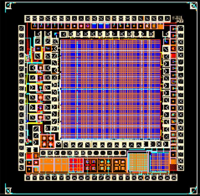 CMOS技術を用いて設計した高感度光検出器SiPMアレイ